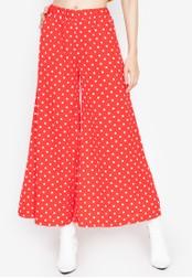 Chase Fashion red Polka Dots High Rise Wide Leg Long Culottes 716B8AA11FF143GS_1