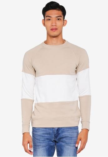 Jack & Jones beige Frank Crew Neck Sweater 22624AAB0FF9B0GS_1