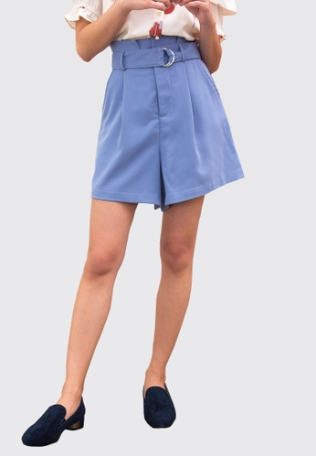 L'zzie blue LZZIE LACEY SHORTS - BLUE 40629AA49EDF5DGS_1