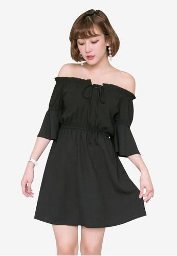 Tokichoi black Off Shoulder Mini Dress 0D5DEAA442BFD1GS_1