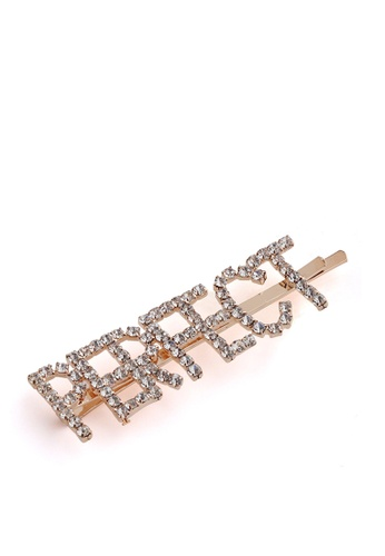 London Rag gold Embellished Perfect Hair Clip CD641ACD912A46GS_1