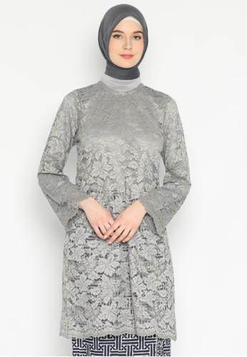 Karina Design grey Khalida Baju Kurung Non Furing D0BE9AAABF888FGS_1