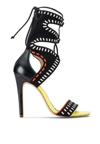 Carvela Kurt Geiger black and multi Gozo Heels CA301SH36DWLMY_1