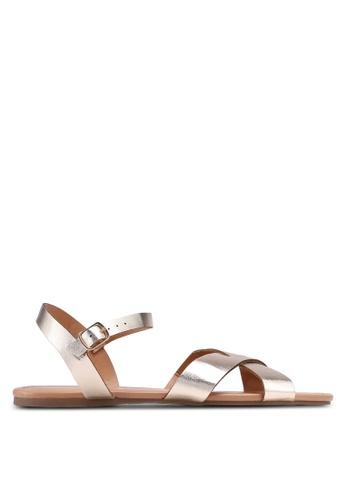 Dorothy Perkins 金色 Gold 'Falcon' Sandals 759E6SH4D627A3GS_1
