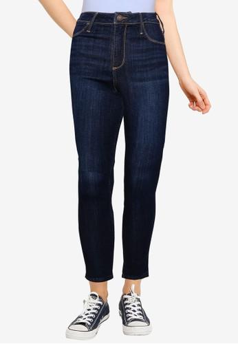 Hollister blue High Rise Curvy Jeans 9DE24AA5226380GS_1
