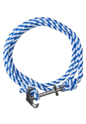 esprit 價位Panama 銀錨繩索纏繞式手環, 飾品配件, 飾品配件