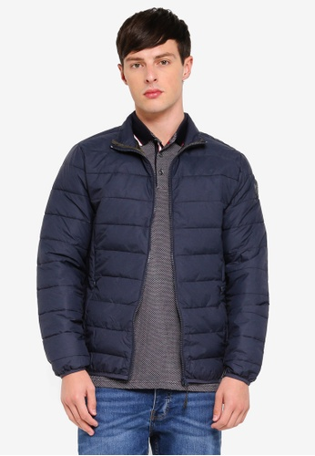 Burton Menswear London 海軍藍色 高領外套 FE5D4AA9A627A1GS_1