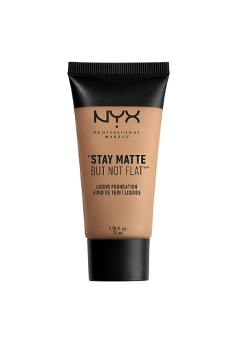 NYX Professional Makeup beige NYX Professional Makeup Stay Matte But Not Flat Liquid Foundation - CARMEL EC35BBE6295905GS_1