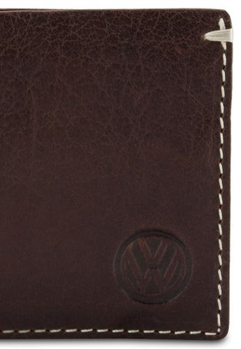Volkswagen brown Volkswagen Genuine Leather Bi-Fold Wallet VO089AC99EJSMY_1