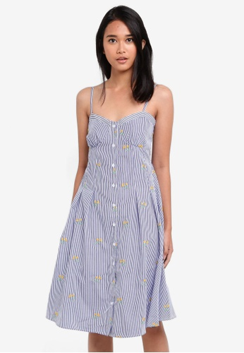 Something Borrowed blue Button Down Cami Dress DB356AAD796673GS_1