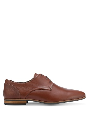 Topman brown Derby Shoes TO413SH0RFPRMY_1