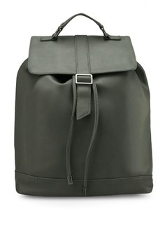 Buckled Drawstring Rucksack