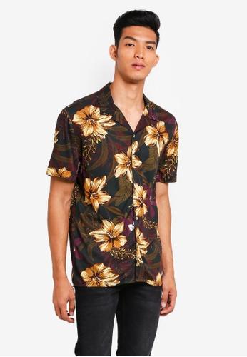 MANGO Man black Regular-Fit Floral Print Shirt 4FB96AADCE2531GS_1