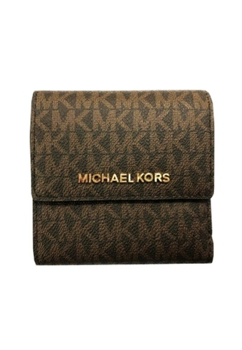 MICHAEL KORS brown Michael Kors Logo Wallets - 35F8GTVD1B Brna /Acorn 6CDD5ACA4F1CB0GS_1