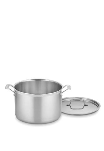 Cuisinart silver Multiclad Tri-ply 12 Qt. Stockpot w/Cover 5E6E4HL7F7B2E4GS_1
