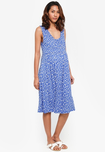 JoJo Maman Bébé blue Maternity Floral Dress 1BE2CAAC1C5379GS_1