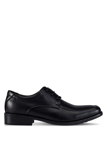 Louis Cuppers black Embossed Dress Shoes LO977SH0RX3SMY_1