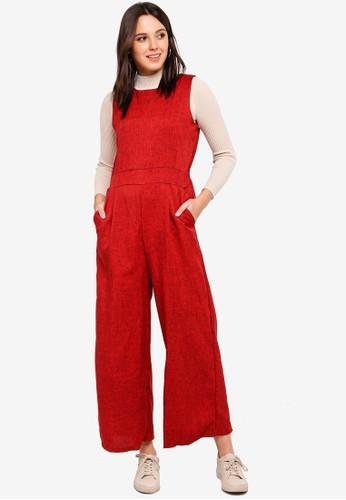 BYN red Box Pleat Jumpsuit A6EF3AA848327FGS_1
