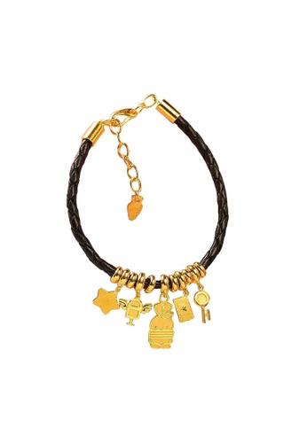 LITZ gold [Free Booto Soft Toy] LITZ 999 (24K) Gold Booto Bracelet BT3-BB 3B112AC843C114GS_1