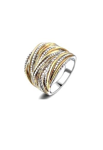 ADORA gold Overlapped Ring F9E48ACB9231F8GS_1