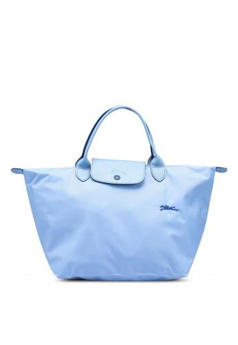 LONGCHAMP blue Le Pliage Club Top Handle Bag M (zt) 5BDD4AC29DB83AGS_1
