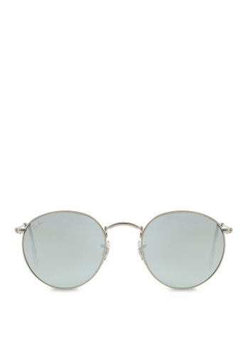 Ray-Ban Round Metal RB3447 Sunglasses RA370GL07SBOSG_1
