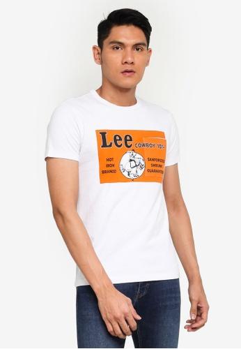 Lee white 101+ Pocket Short Sleeve T-Shirt 95261AAC23E75FGS_1