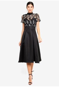 c45dc5f4d0 Little Mistress. Monochrome Midi Dress