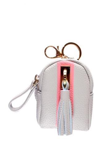 Treasure by B & D grey Women PU Leather Cute Backpack Coin Purse TR022AC0JQ2IPH_1