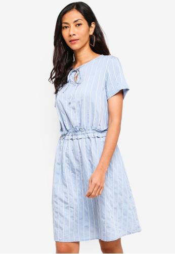 ESPRIT blue Light Woven Midi Dress 54623AAEFD6034GS_1