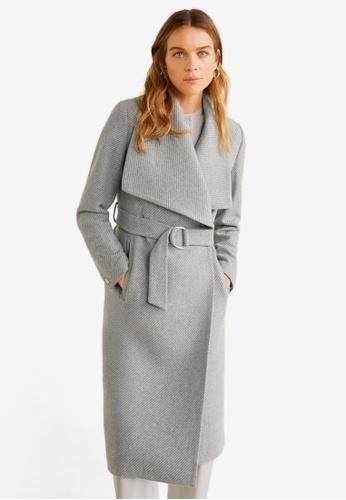 b045e89b2a Wide Lapel Wool-Blend Coat