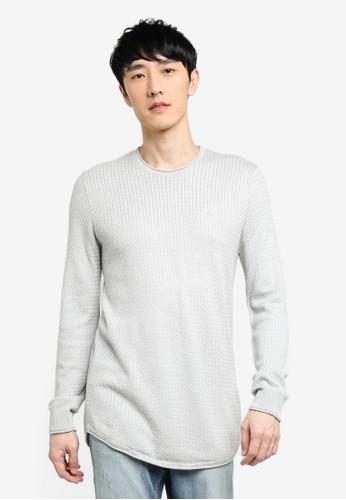 Hollister grey Texture Crew Neck Sweater 4542BAAE377B32GS_1