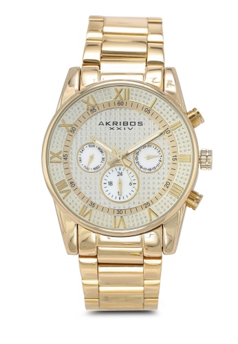 Akribos XXIV gold Multifunction Stainless Steel Watch 3A424AC272A6DBGS_1