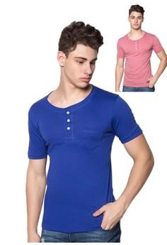 Newyork Army Men's Henley Combo Shirt
