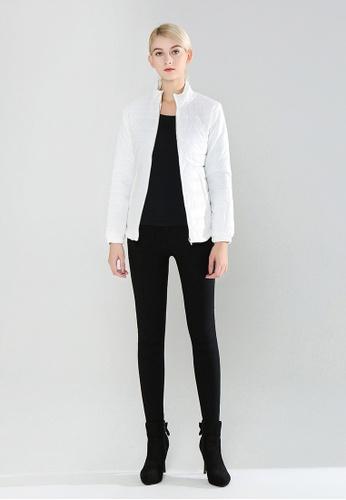 London Rag white Puffer Jacket with Zipper Closure A104EAAB739A11GS_1