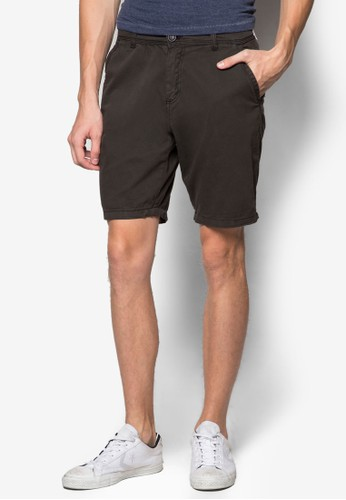 Factorie black Dyed Chino Shorts FA113AA48LWHID_1