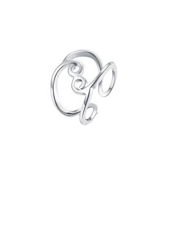 Glamorousky silver Fashion Simply Geometric Line Adjustable Split Ring 63115AC067EEABGS_1