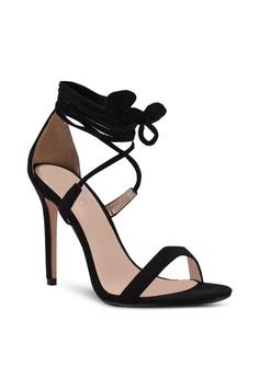 PUBLIC DESIRE Women's Pepper Frill Toe Women's Blue Heeled Sandals in Size 41 Blue paIdEKOg