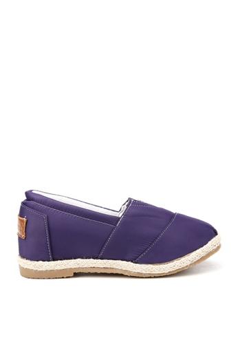 KissXXX 紫色 特殊防潑水純色美腿效果5CM內增高帆布休閒鞋 KI603SH09OFITW_1