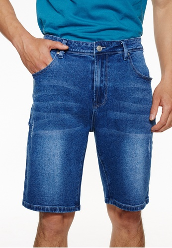 Life8 藍色 Casual Contrast Color Denim Shorts-02465-Blue 070D4AAB3184D4GS_1