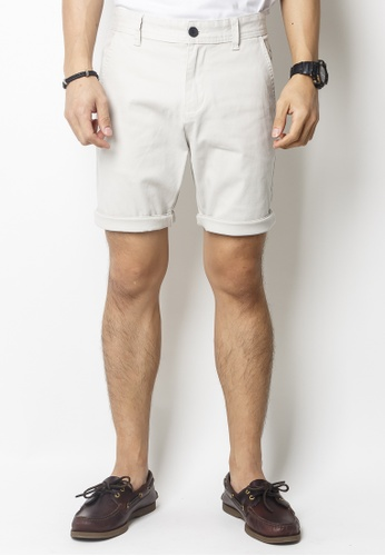 2nd Edition white Back To Basic Shorts In Sand White AC672AA292D35AGS_1