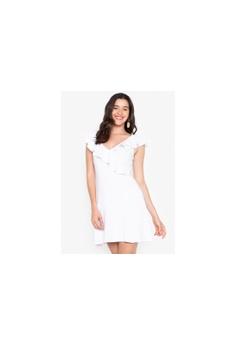 93b67f3b3e7b Twenteen white Ruffled Ridged Dress 89388AA5028375GS 1