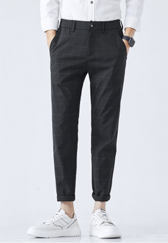 Trendyshop black Checked Slim Suit Pants 7B5B2AAE1FC178GS_1
