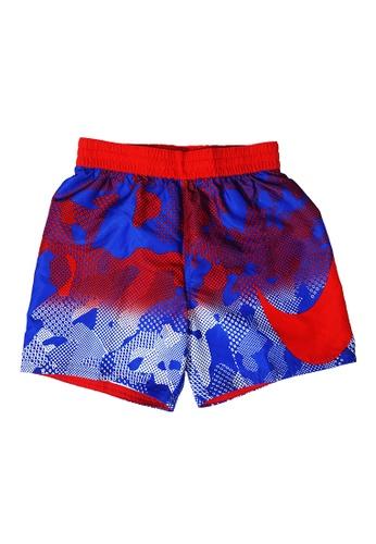"Nike Swim blue Boys Optic Camo Breaker 4"" Volley Short F55F9KA4092A8BGS_1"