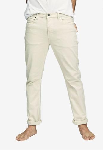 Cotton On 白色 錐形剪裁牛仔褲 CA6FDAA11F0621GS_1