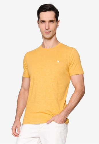 Abercrombie & Fitch gold Short Sleeves Icon Crew Tee 8330CAACFE0BC3GS_1