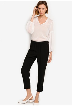 91feec1cccfb26 Banana Republic Split Ruffle Neck Top S  116.90. Available in several sizes