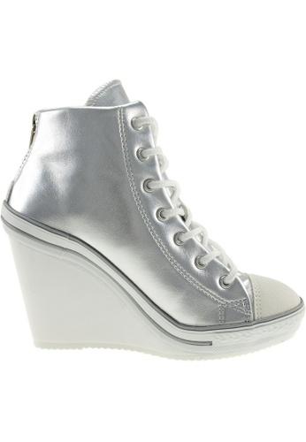 Maxstar Maxstar Women's 777 Back Zipper PU High Wedge Heel Sneakers US Women Size MA164SH29PXASG_1