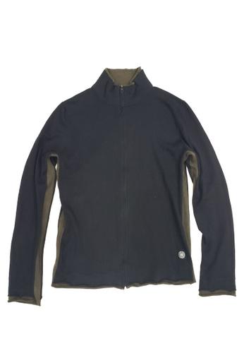 East Pole black Men's Stand Collar Zipped Cotton Cashmere Sweater DE097AA8E7A1ACGS_1