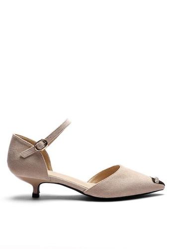 Twenty Eight Shoes Suede Fabric Strap Mid Heel 395-2 20720SH873FAB0GS_1